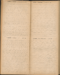 Page numérisée de l'annuaire de 1892 contenant des exercices de sténographie