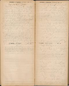 Page numérisée de l'annuaire de 1892 contenant des notes d'époque à l'encre et, au crayon à papier, des notes de 1917 ainsi que des exercices de sténographie