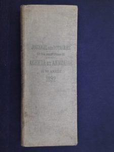 Couverture de l'annuaire de 1892