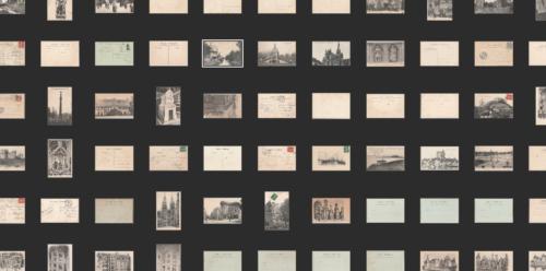 Mosaïques de cartes postales, recto et verso